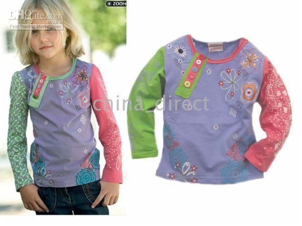 tops kız gömlek tasarımı toptan satış-Erkek kız üst t- shirt başında gömlek, t- shirt üst 10pcs / lot yeni tasarım