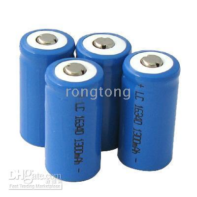 Wholesale Lithium 123 Batteries - Rechargeable CR123 CR 123 Lithium Battery 3.7V 1300mA DHL free 100pcs lot