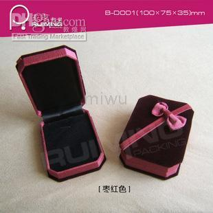 Wholesale - Velvet Necklace Box B-D001 maroon \ jewelry box jewelry box