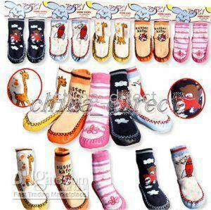 baby boys girls home socks Bootie Sock footgear stocking shoes boot leather bottom 36pairs/lot new