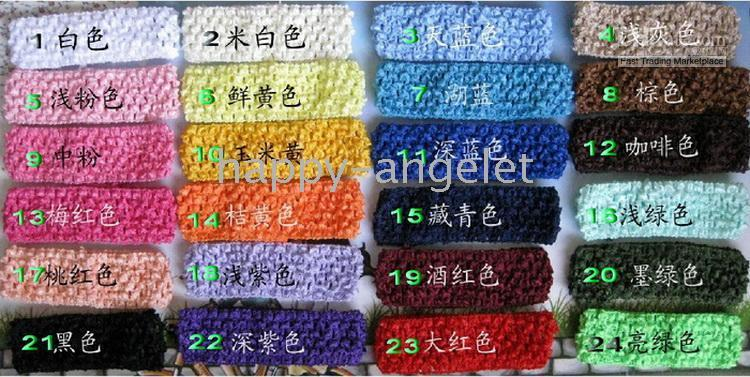 Wholesale Hot Pretty Girls - 300 pcs Freeshipping girl Crochet headband,hot selling for pretty baby toddler girls hair band FD6502