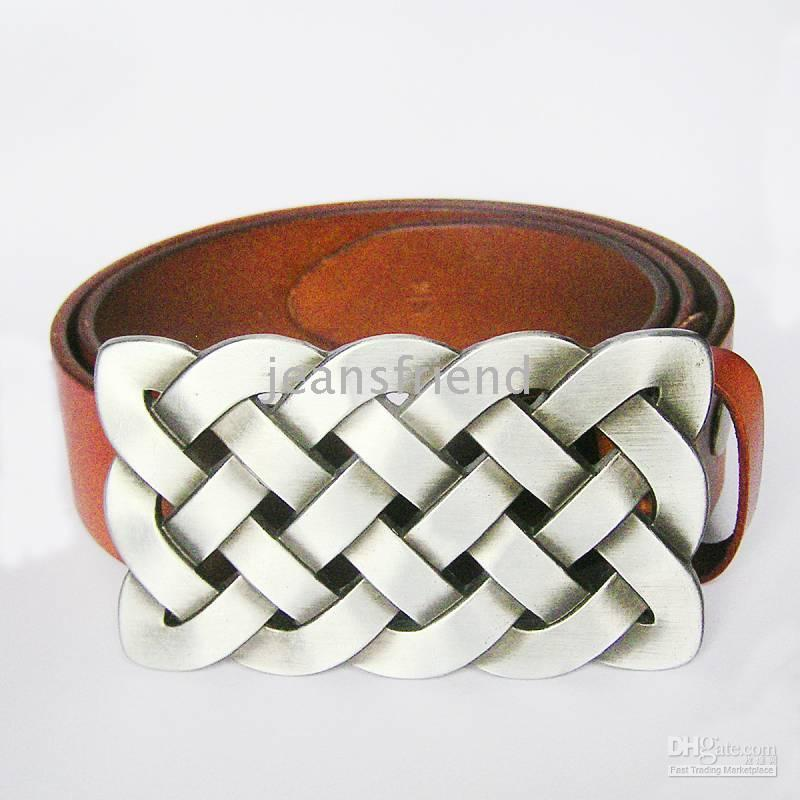 Discount leather snap belt - Belt | Keltic Traditional Knot With Brown Genuine Leather Snap On Belt