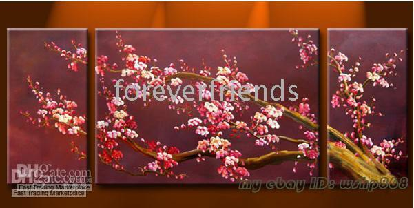 cherry blossom picture Canada - handicraft Abstract Art Cherry Blossom Oil Painting