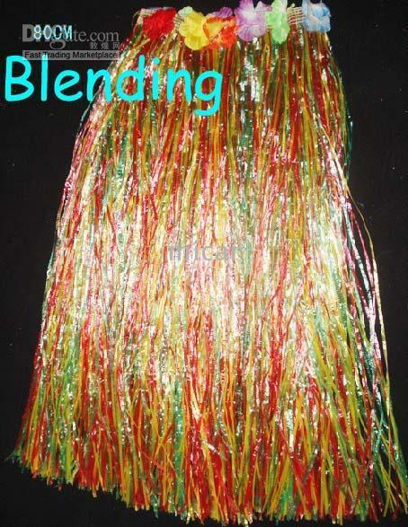 Wholesale Photography Props For Adults - 80cm 60cm 40cm Hawaiian grass skirts with flowers photography props for party adult skirts Hula Cheer Skirt