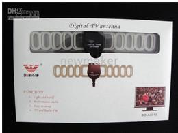 Wholesale Dvb Mobile - DVB-T TV Antenna Digital TV Antenna Car Mobile Digital DVB-T TNT ANT003A 50PCS