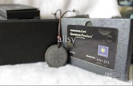 Wholesale Nano Quantum Energy - Come with Cord Nano Energy Quantum Science Scalar Energy Pendant With Product Registration Card 5pcs