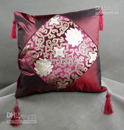 Wholesale Cushions Cover Cheap - New Fancy Cushion Cover Pillow Case Cheap Silk Brocade Colorful Gorgeous Cushion Covers 6pcs Free