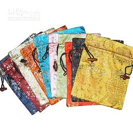 Canada Unique imprimé grands sacs cadeaux style chinois tissu Art haute qualité tissu en soie cordon bonbons poches de rangement pour mariage Noël Offre