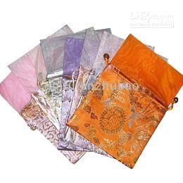 Wholesale Top Grade Bag China - Drawstring Wedding Gift Bag Top grade Holiday Gift Bags China Silk Flowers Gift Bag 30pcs Free
