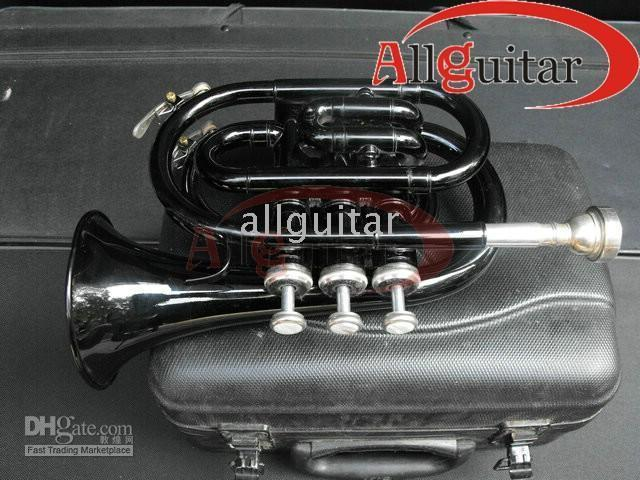 Wholesale mini pocket trumpet resale online - BLACK MINI POCKET TRUMPET Professional TRUMPET BRASS