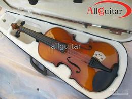 Sem violino on-line-Corda do violino 4 com o shiping livre da caixa Instrumento musical da corda clássica nova da chegada