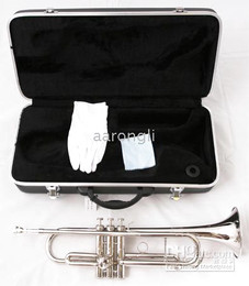 Wholesale Gold Brass Trumpet - Silver professional trumpet great sound metal New technique