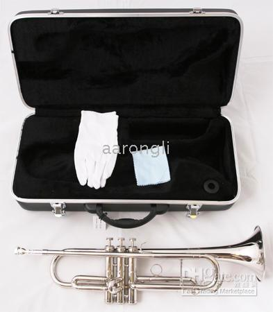 silver professional trumpet UK - Silver professional trumpet great sound metal New technique