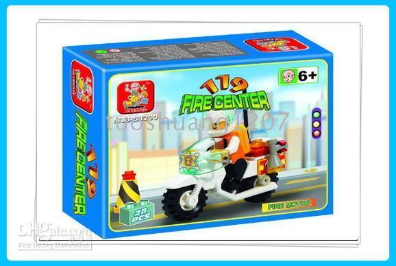 Wholesale Small Luban - Small Luban blocks     Fire Motorcycle M38-B3200