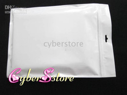 Wholesale Leather Crystal Pouch - White Simple Retail packaging Plastic bag pouch for apple ipad leather, hard case etc.