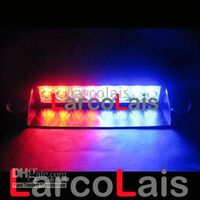 Red Blue 8 LED Strobe Flash Warning Police EMS Car Truck LED...