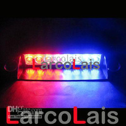 Rosso Blu 8 LED Strobe Flash Warning Police EMS Car Truck LED Light lampeggiante Vigili del fuoco Fendinebbia 8LED da camion blu luci stroboscopiche fornitori