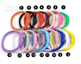 Wholesale led 39 - 100 pcs Women's men anion watches girl boy sport Anion Negative Ion Silicone LED Bracelet HOT