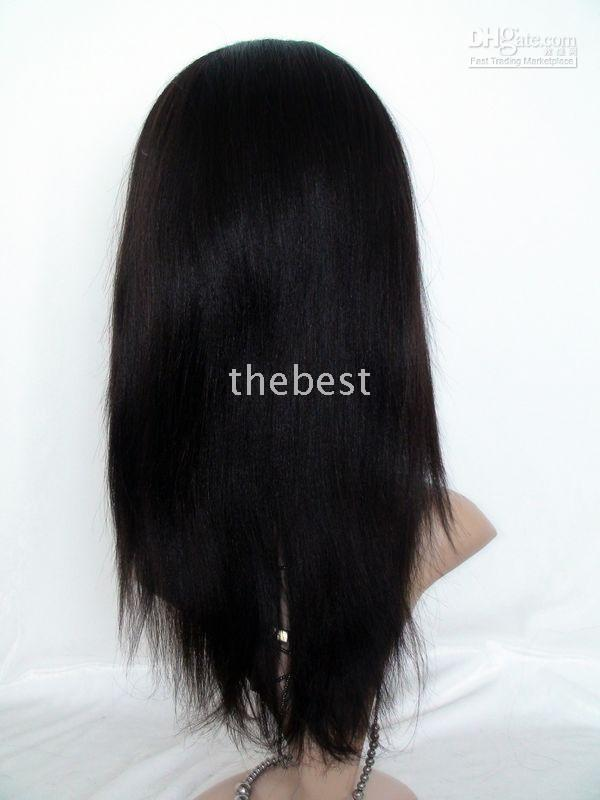 Wholesale 12inch Human Hair Wigs - Wholesale Sexy Style full lace wigs 12inch #2 darkest brown yaki straight 100% Indian remy human hair wig