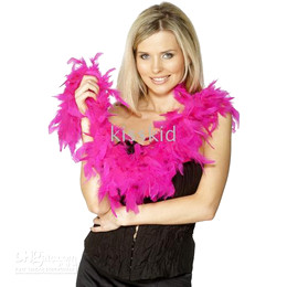 10Pcs Fancy Dress accessorio Hot Pink Boa Boa Party Costume Party Supplies Decoration 2M Spedizione gratuita