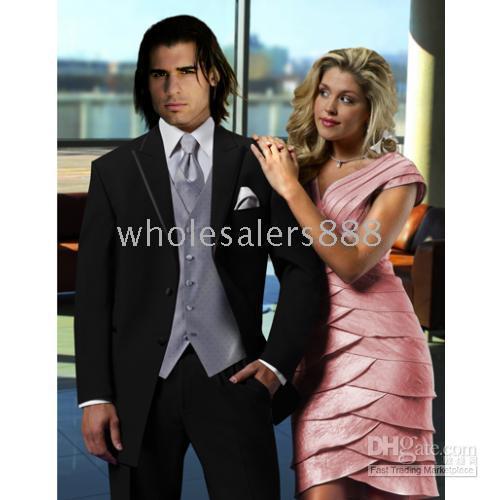 Discount designer tuxedo vests - Men Complete Designer Bridegroom Wedding Prom Suits Groom Tuxedos (jacket+pants+tie+vest) C117Q