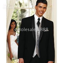 komplette hochzeit Rabatt Herren Komplett Designer Bräutigam Hochzeit Prom Anzüge / Bräutigam Smoking (Jacke + Hose + Krawatte + Weste) C120