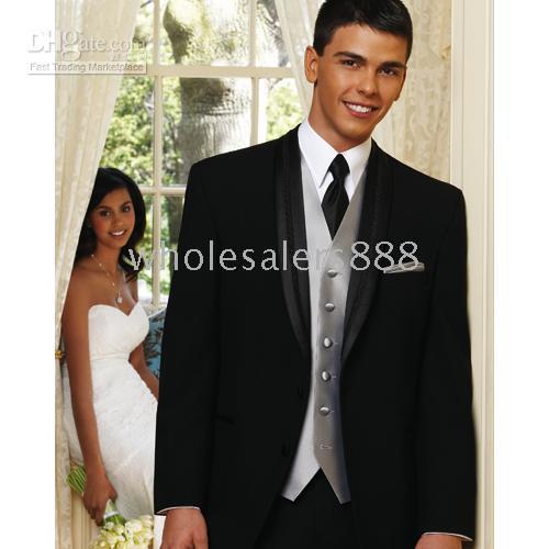 Discount designer tuxedo vests - Men Complete Designer Bridegroom Wedding Prom Suits Groom Tuxedos (jacket+pants+tie+vest) C120