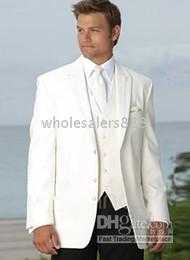 komplette hochzeit Rabatt Männer Komplette Designer Bräutigam Hochzeit Prom Anzüge / Bräutigam Smoking (Jacke + Hose + Krawatte + Weste) C133Q