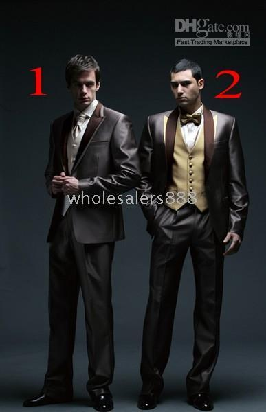 designer tuxedo vests 2019 - Men Complete Designer Bridegroom Wedding Prom Suits Groom Tuxedos (jacket+pants+tie+vest) C146 cheap designer tuxedo ves