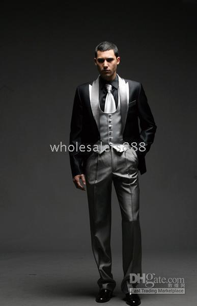 Wholesale Men Complete Designer - Men Complete Designer Bridegroom Wedding Prom Suits Groom Tuxedos (jacket+pants+tie+vest) C148