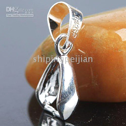 Wholesale Pinch Clip Bail - Silver Plated Pendant Pinch Bail 16mm, Bail Size: 6MM, Pendant Clips, Jewelry Findings.