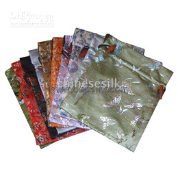 Wholesale Dried Lavender Flower - Large Silk Satin Christmas Drawstring Bags Gift Packing Bag Birthday Party Candy Tea Lavender Dried flowers Packaging Pouch 3 size 10pcs lot