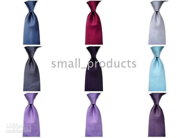 Wholesale Solid Knitted Neck Tie Woven - Wholesale - Brand New Men's Ties 100% Silk Elegant Woven Stripe Jacquard Man's Necktie Tie 98pic