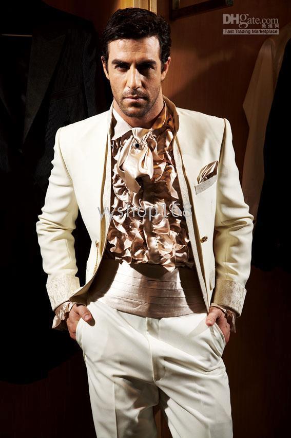 Free Ems Ivory Men Wedding Groom Wear Suit / Mens Complete ...