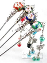 20PC hermosos chinos cloisonne hairsticks desde fabricantes