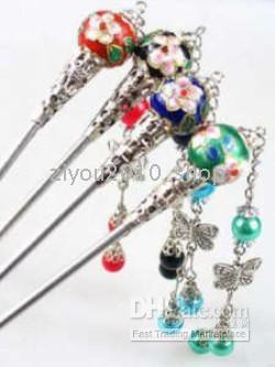 10шт красивый китайский стиль hairsticks многоцветной перегородчатой на Распродаже