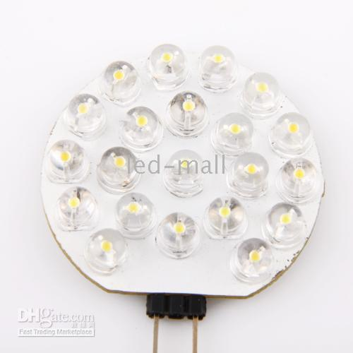 luz del coche blanco puro G4 21 LED Spotlight inicio bombillas del punto G4-21LED 10PCS / LOT