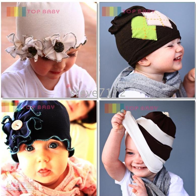 Wholesale Kid Chapeau Hat - Top Baby hats boy's hat headband barrette headgear kids berets chapeau dicer beanie hair clips CL878