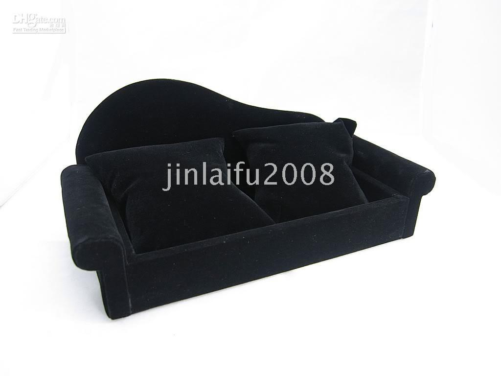 Of 2 Black Velvet Sofa Jewelry Display Cases Stands Nz 2019 From