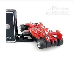2019 control remoto f1 Último 10 unids / lote Control remoto colorido Mini alta velocidad F1 Racing coche para regalo de los niños control remoto f1 baratos