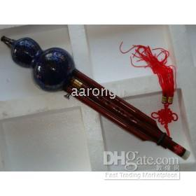 Ingrosso Meravigliosi flauti di zucca di strumenti musicali della Cina blu - Cloisonne Hulusi
