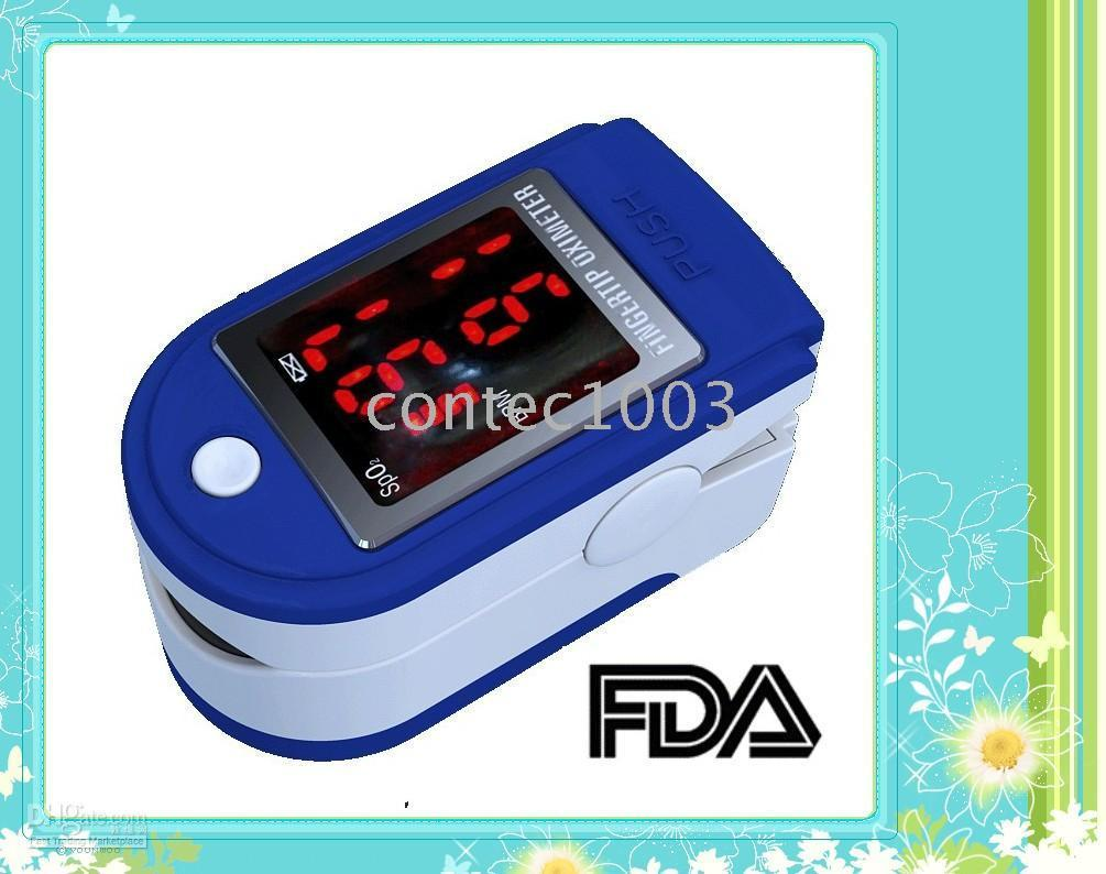 Wholesale Cms Pulse Oximeter - 10 pcs wholesale Fast shipping Finger Pulse Oximeter Blood Oxygen Monitor CMS-50DL
