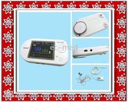 Wholesale Ecg Usb - Wholesale-CONTEC CMS-VESD Visual Digital Stethoscope ECG SPO2 PR Electronic Diagnostic USB Pulse Heart Rate HR