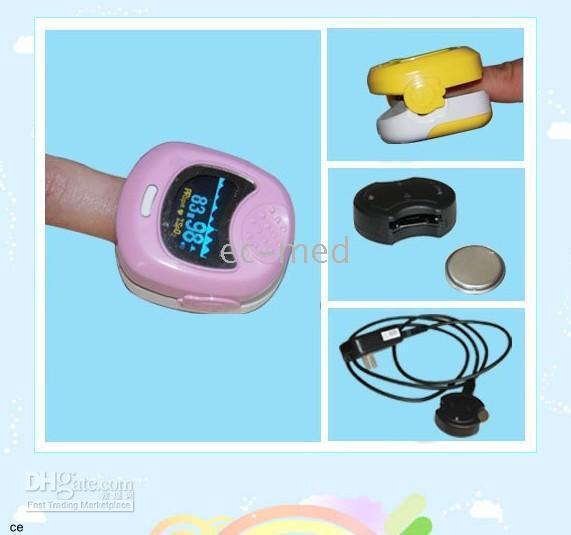 Wholesale Children Finger Pulse Oximeter - Children Finger Pulse Oximeter CMS50QB --gift box ,battery,USB cable