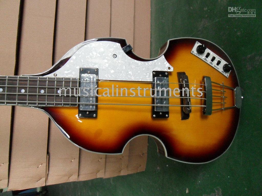 NEW Custom Violin 4 strings bass Honey burst electric bass 2012 new arrival Chinese guitar