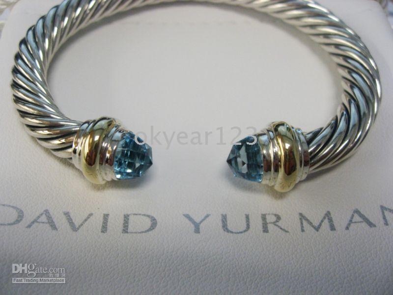 2019 Authentic David Yurman 7mm Blue Topaz Cable Bracelet Tennis
