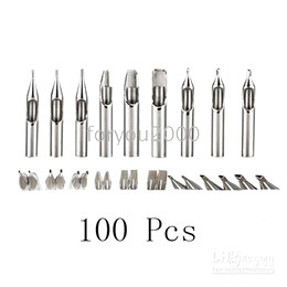 Wholesale Tattoo Tips Assorted - Wholesale 100 x Tattoo Steel Tip Nozzles Assorted Tattoos Express