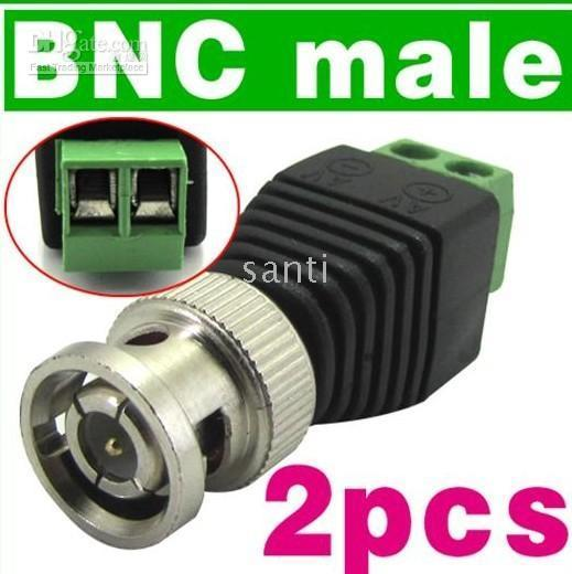 Coax To Camera CCTV Video Balun BNC Connector security accessories