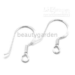 Wholesale Earwire Earrings - 100pcs Sterling Stamped 925 Silver Hook Earring Earwire Hook 18mm