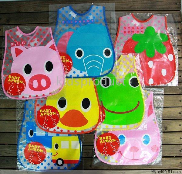 Wholesale Bib Plastic Pockets - Baby cartoon bibs Infant Plastic Bibs Waterproof Baby Bibs Feeding with pocket Feeder Bib Saliva towel Waterproof